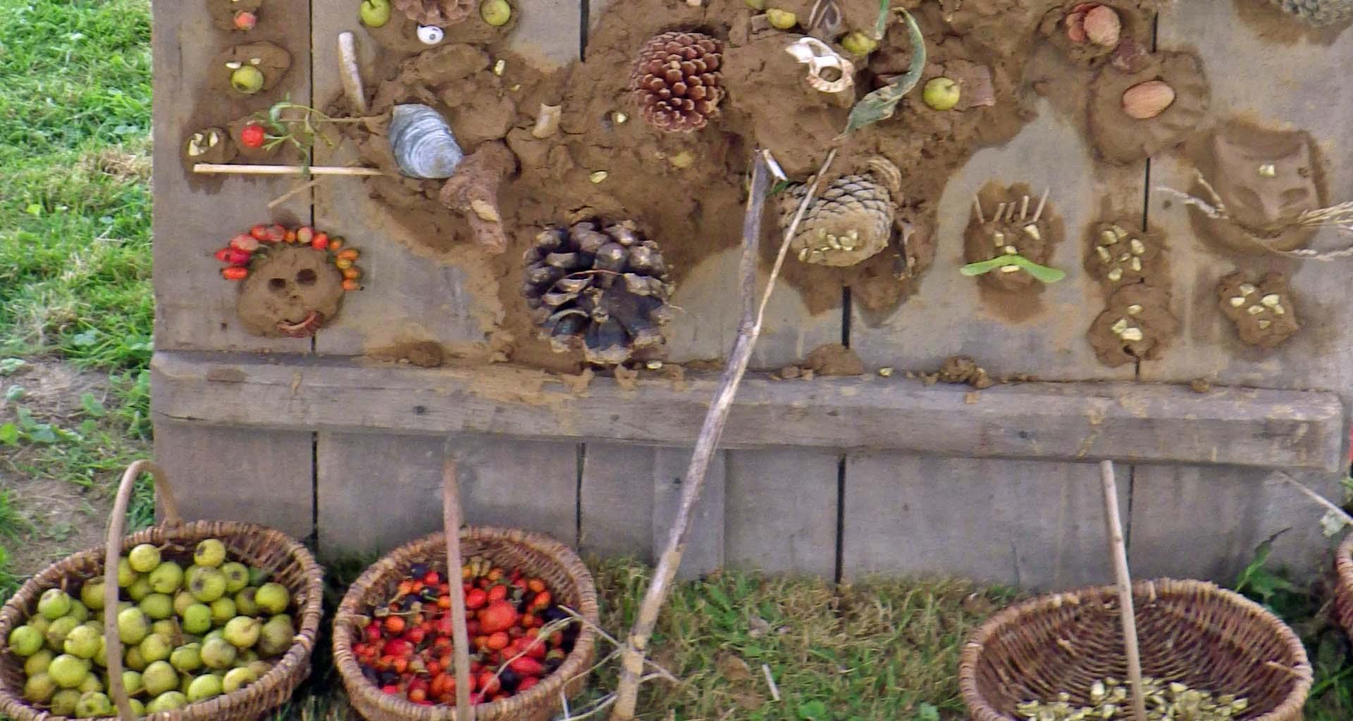 Matschlehm kreativ Herbst