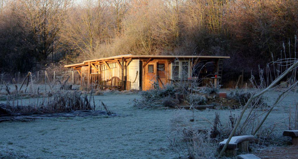 Blockhütte|Zauberwaldgarten|Winter