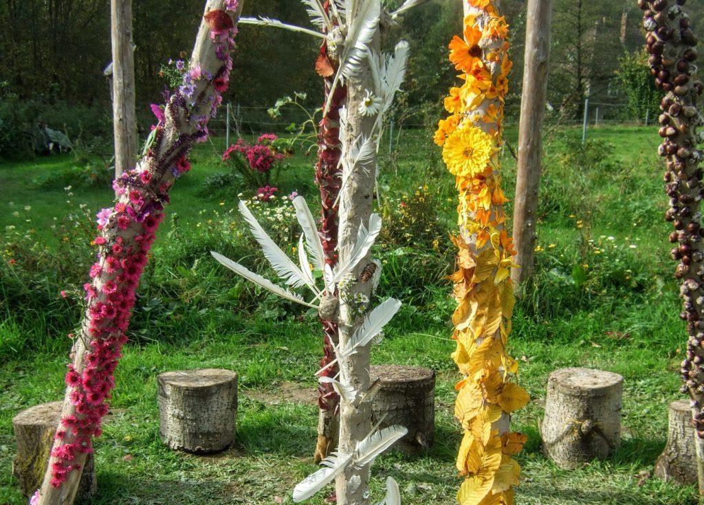 LandArt,Blumen,kreativ