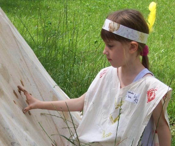 Indianer|Sommer|Mädchen