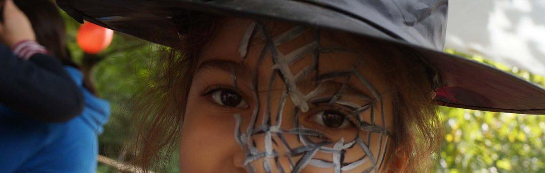 Hexen|Spinnenwebengesicht|Kindergeburtstag