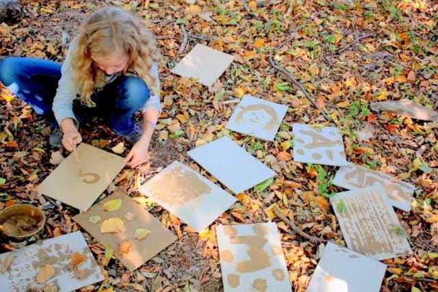 Faehrtensucher|kreativ|Herbst|Kinder