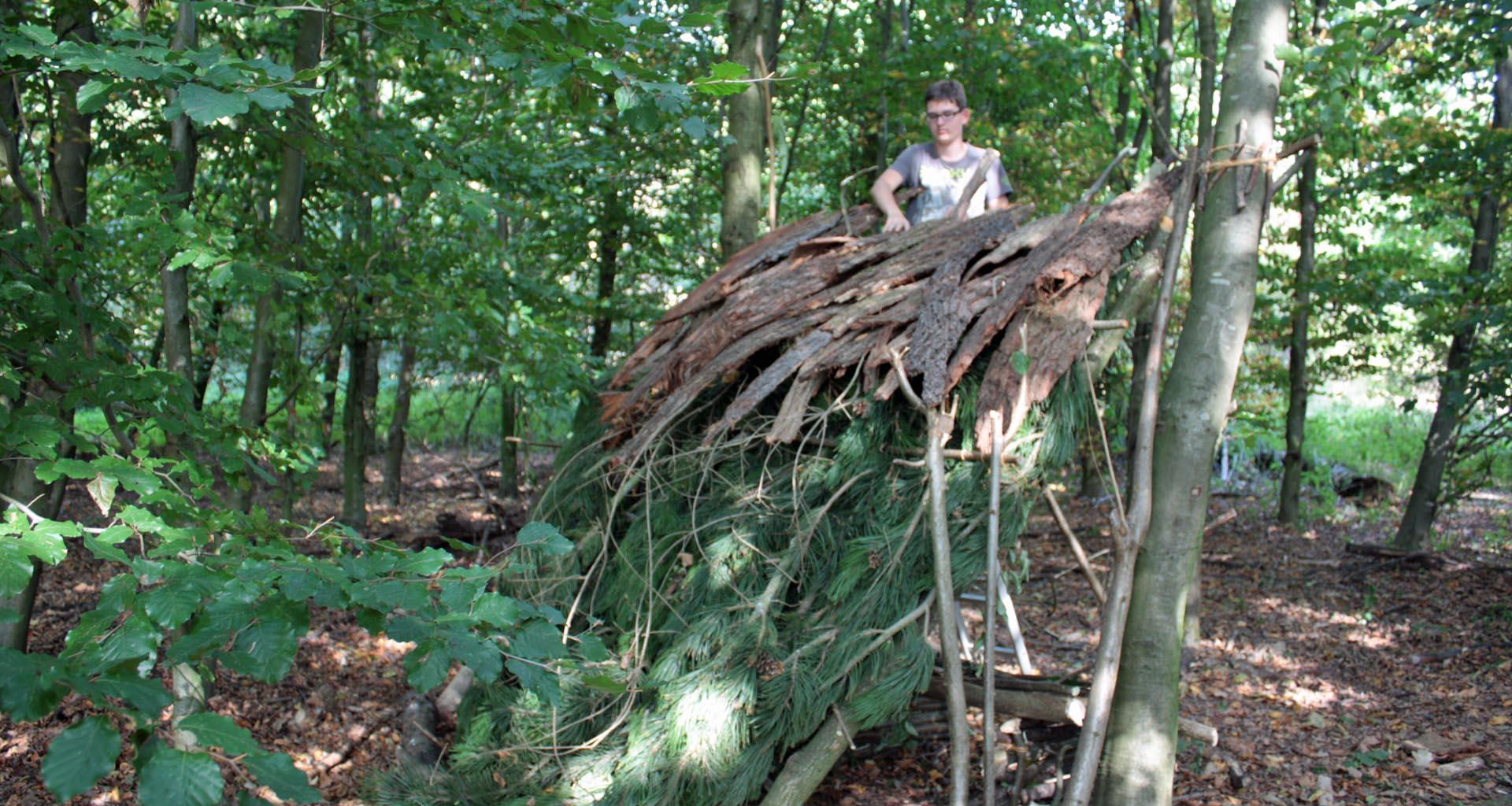 Waldscouts|Bushcraft|Hüttenbau